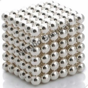 Silver Coated D5mm 216 Pcs Magnetic Ball