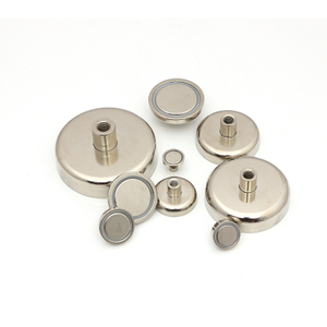 Internal thread Neodymium pot magnet